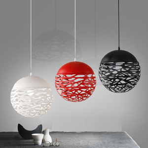 ball led suspend Lamp Lighting Colorful Cage Shade Hanging Lamp Vintage Pendant Light