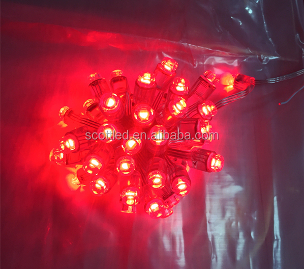 Addressable Latest RGBW digital smart pixel SM16704 DC5V 12mm string lights full color waterproof IP68