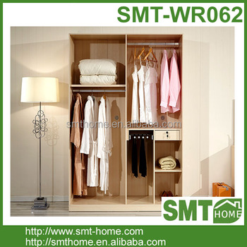 Simple Design Kerala Wood MDF Melmine Bedroom Wardrobe Design