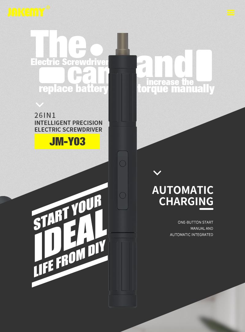 JAKEMY 2019 Mais Novo JM-Y03 Mini Cordless
