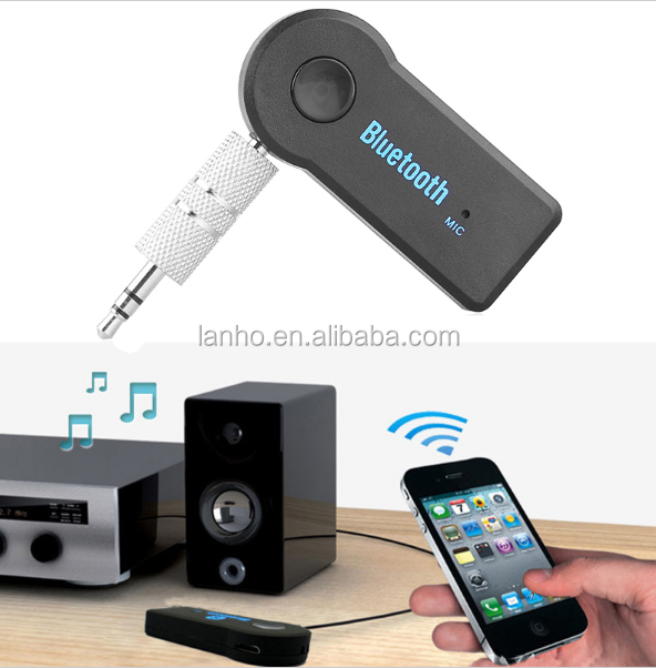 Home Car Wireless Bluetooth AUX Audio Receiver Adapter 3.5mm Jack Bluetooth HandsFree Car Kit Stereo MP3 Music Receiver