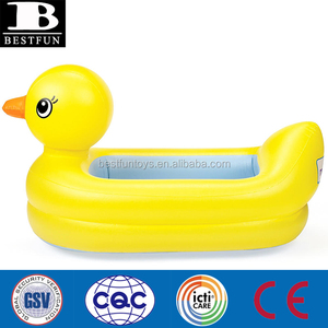 promotional custom inflatable safety duck tub baby swimming tub duck bath tub inflatable
