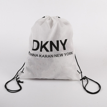Customised promotional non woven drawstring backpack bags