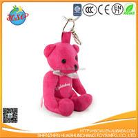 China T-shirt soft stuffed teddy bear keychain plush teddy bear keychain