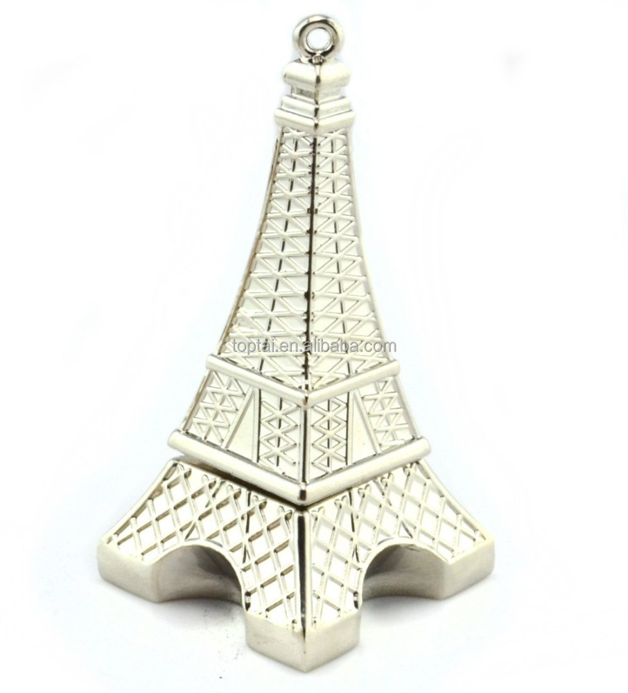 High quality mini cartoon eiffel tower model pen drive usb flash drive 4GB/8GB/16GB USB 2.0 pendrive U disk
