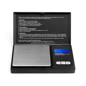 Mini Elite Digital Pocket Scale 200 x 0.01g, with Back-lit LCD Display, Mini Digital Weighing Scale 200g