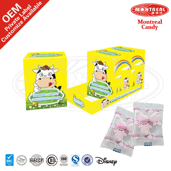Yogurt Fruits Flavor Sweets Candied With Cow Shape