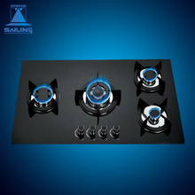 인기있는 Sales) 의 4 버너를 baite 강화 (gorilla Glass Panel Gas Hob
