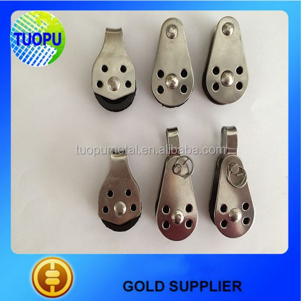 China hardware high quality and low price SS 304 pulley,pulley block with nylon sheave in hot selling