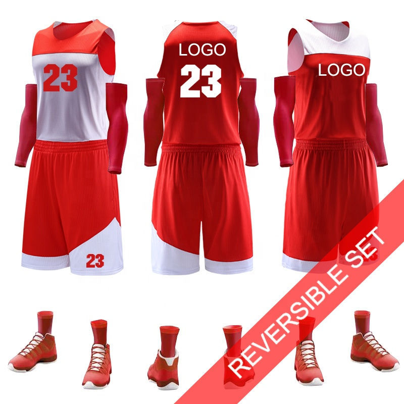 Großhandel Team LOGO Reversible Custom Basketball Jersey