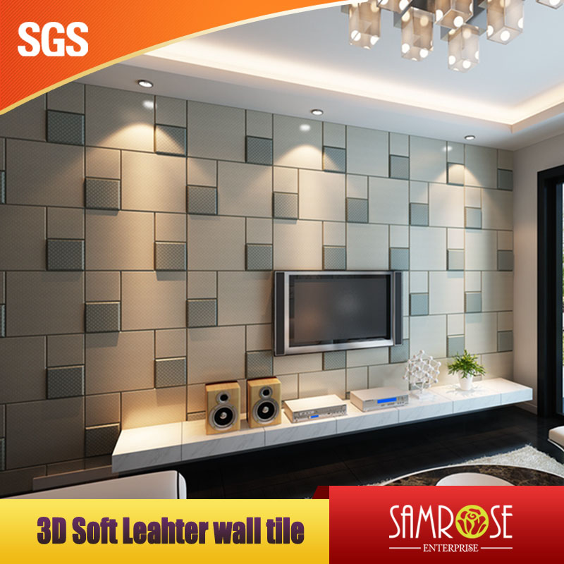 Soft leather wall tile High-end customized faux leather tile (Aegean see)