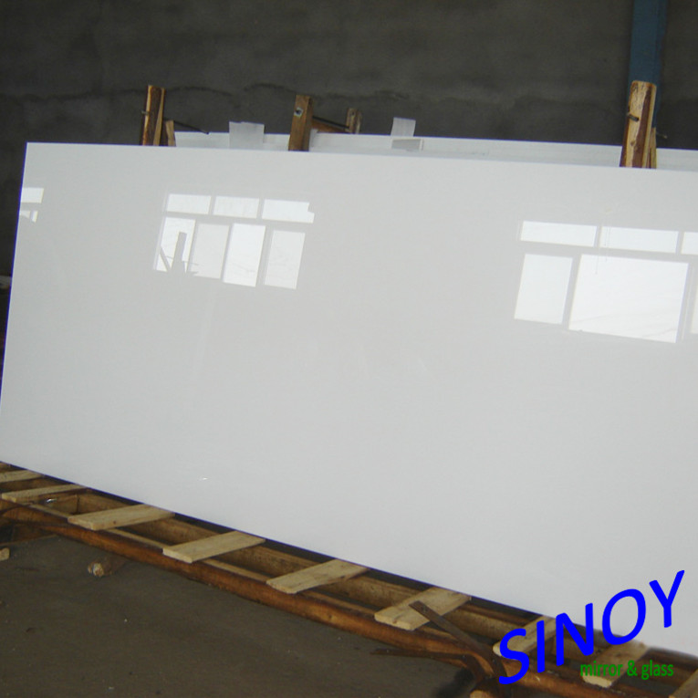 9003 High quality pure white painted glass for ward robe sliding