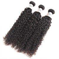 Short Kinky Curly Hair Brazilian Human Hair Weave 8 10 12 14 16 Inch Double Drawn Virgin Hair