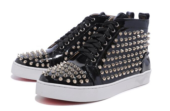 64f0ed0e0c2 Buy Wholesale fashion brand men red suede leather flat bottom sneakers  black rivets ankle boots spikes red bottoms shoes in Cheap Price on  m.alibaba.com