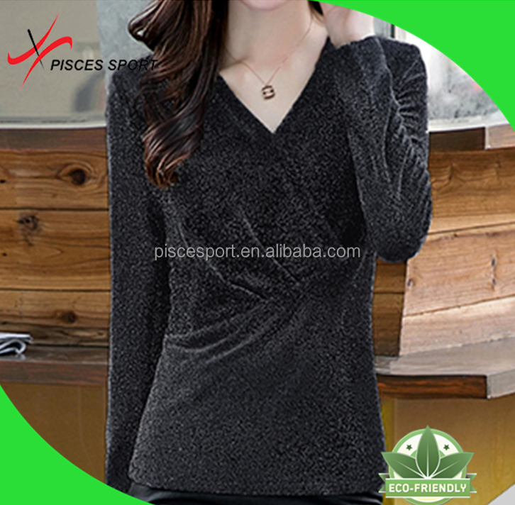 most popularity women dry fit long sleeve plain t-shirts