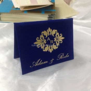 high end exclusive luxury navy hard cover wedding invitations with