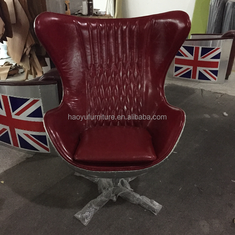 Metal Spitfire Swivel Aluminium egg chair