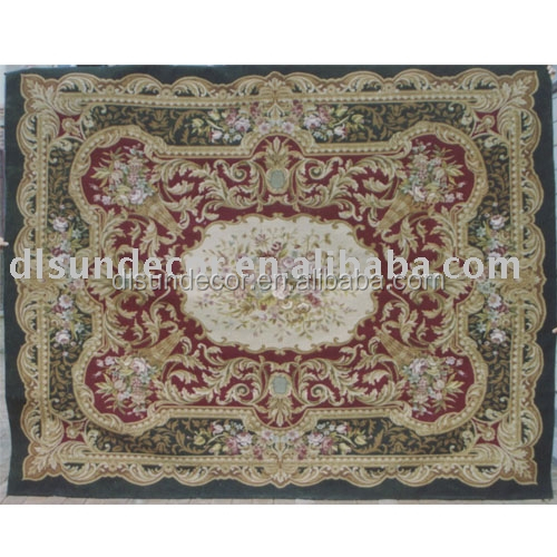 100% wool handmade aubusson needle point rugs
