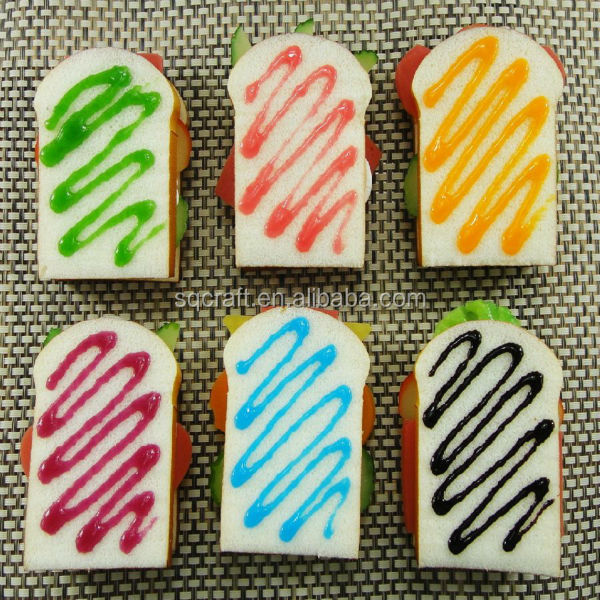 Mobile Phone Straps Cellphones & Telecommunications Smart Slow Rising Soft Hamburgers Fridge Magnet Stickers Whiteboard Magnets Squishy Bread Artificial Fake Cake Kid Toy
