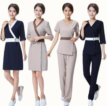 Wholesale high quality manufacturer supply spa uniform for for Uniform design for spa