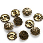 Decorative Clothing Custom Logo Leather Press Metal Jeans Snap Fasteners Button
