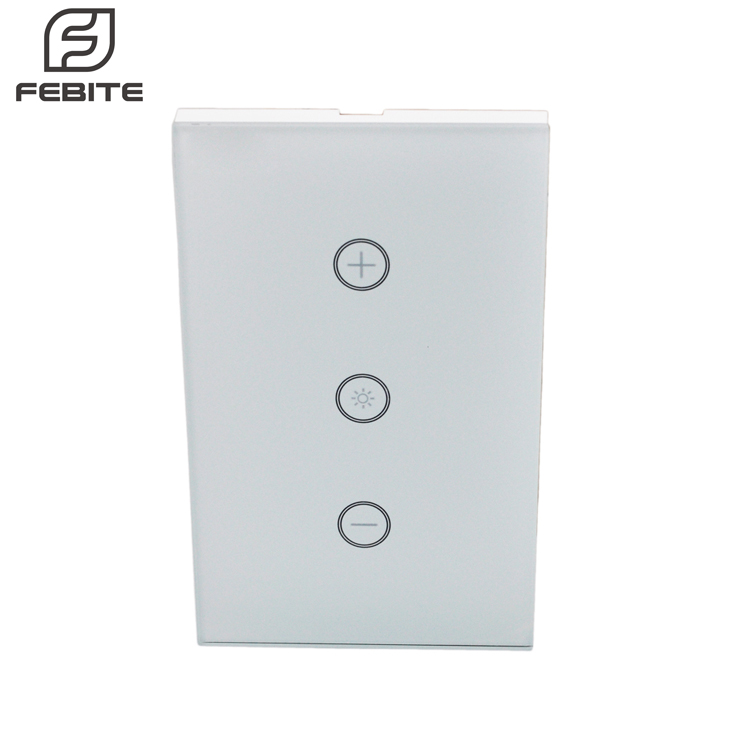 Dimmer Switch Work with Alexa In Wall Light Switch Mobile Phone APP Remote Control Sensitive Touch Smart Wifi Home Switch