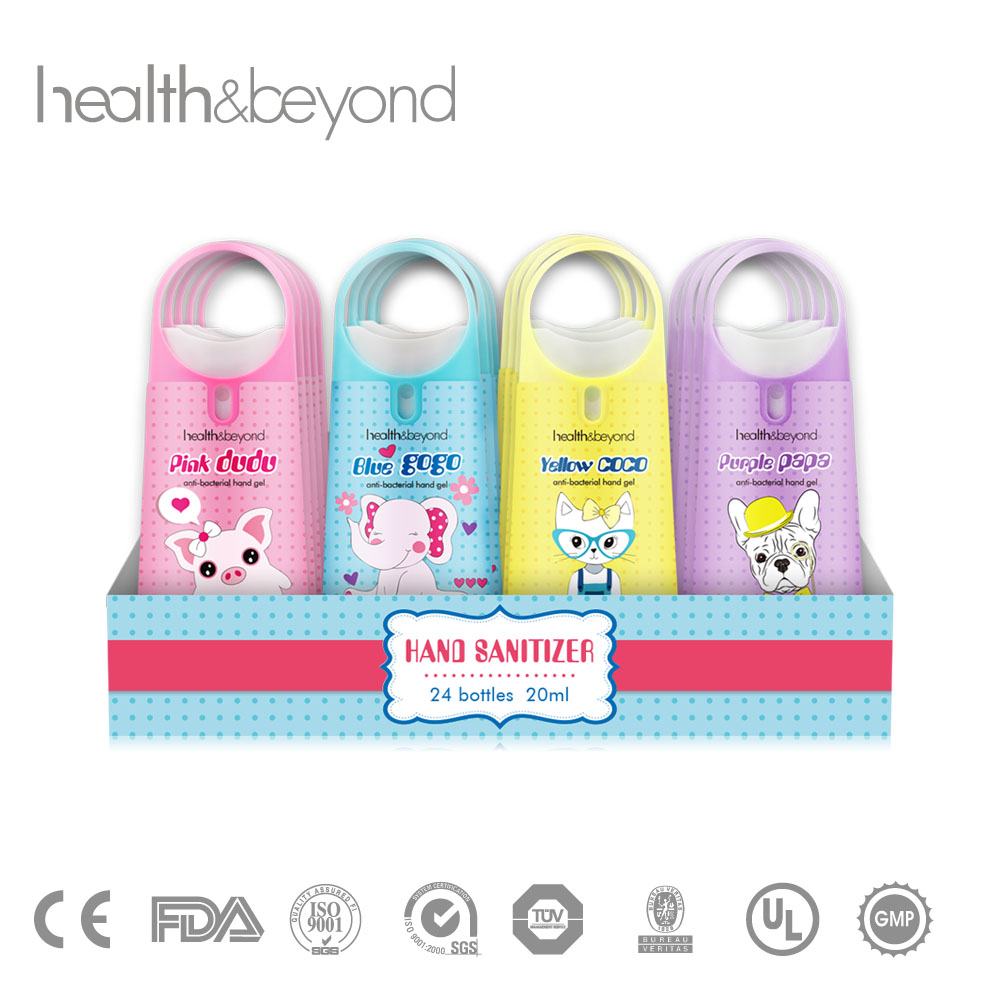 custom logo mini alcohol free hand sanitizer spray with holder ring for kid and children