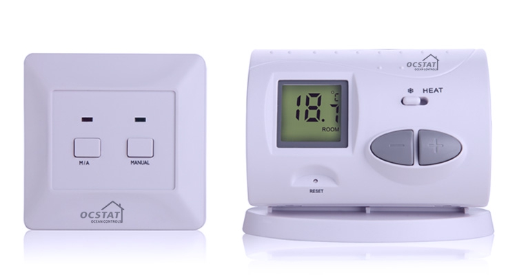 Control Valve Radiator Wireless Room Thermostats For
