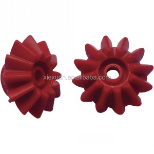 Custom plastic nylon mini pinion helical bevel gear with high quality