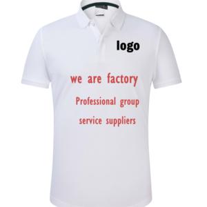 Wholesale Custom Polo Shirt Printing Design Your Own Logo Blank Men T-Shirt Custom Logo T Shirt Work Clothes Polo Shirt