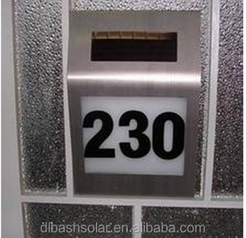 Cheap Super Bright House Number Solar House Address Light LED Stainless  Doorplates