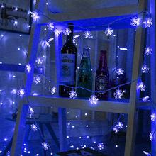 10 м 100 светодиодный S 220 в EU штекер 5 м/20 м/30 м рождественские снежные хлопья гирлянды светодиодный гирлянда сказочные огни для рождественской ...(Китай)