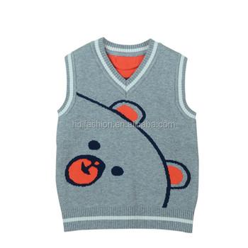 d6f91f956af64 Kids Knit Vest Pattern Child Sleeveless Sweater Japan Baby Clothes ...