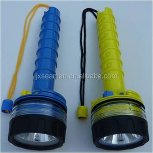 new design 50m waterproof 6v 10W led underwater flashlight torch for spearfishing ,scuba diving