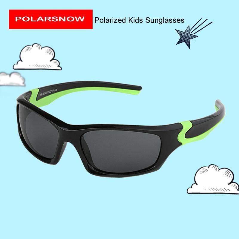 20c04999d POLARSNOW Kids Sunglasses 2019 Polarized Brand Designer Childrens Sun  Glasses Baby Eyeglasses 100%UV Protection Oculos De Sol