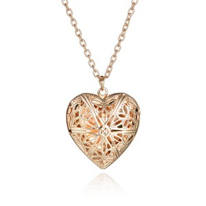 Hollow Heart Pendant Necklaces Fashion Jewelry LOVE Heart Collares Geometric Charm Necklace NS812271
