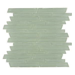 Wave sweet pea random linear glossy glass tiles