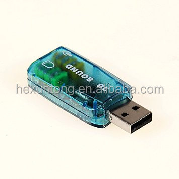 USB 2.0 3D Sound 5.1 Channel Audio Headset Microphone Jack Converter Sound Card