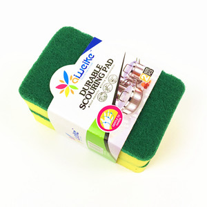Daily necessities durable strong decontamination scouring pad sponge kitchen cleaning