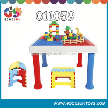 Exceptional Plastic Kids Building Blocks Table Multifunction Homework Table