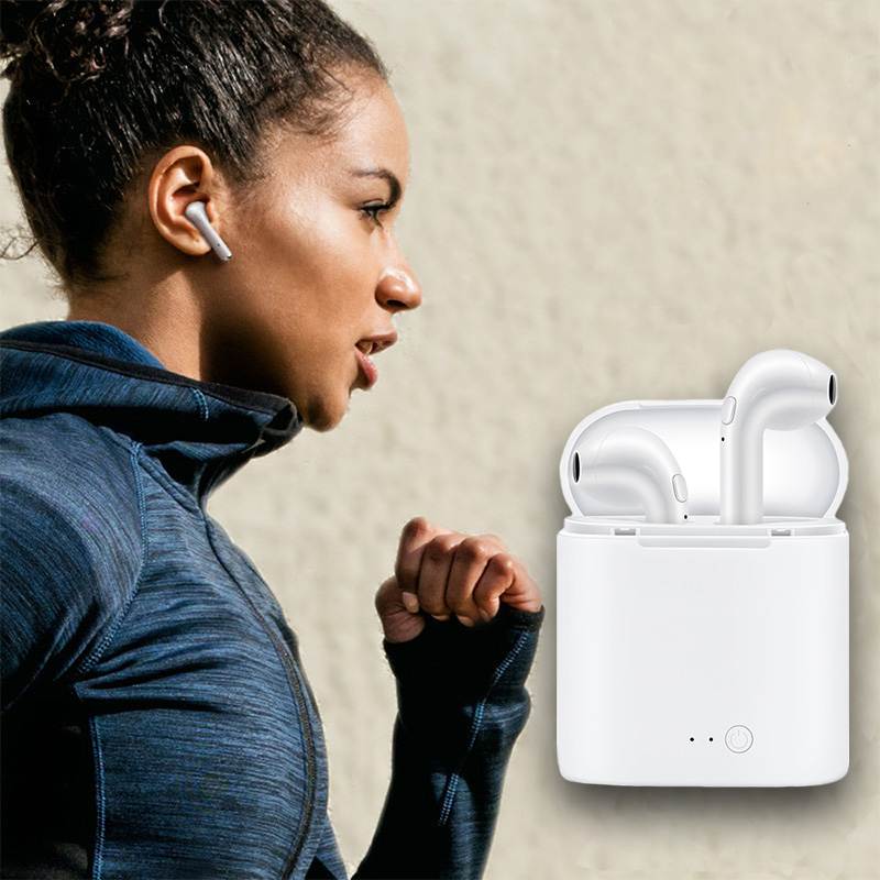 Fashion Portable Mini True Wireless Bluetooth Earphones Earbuds Headset with Charging Box for iPhone for Android
