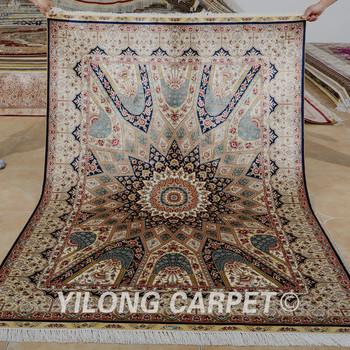 Yilong 4 5 X6 5 Vintage Tapis Oriental Noue A La Main A La Main