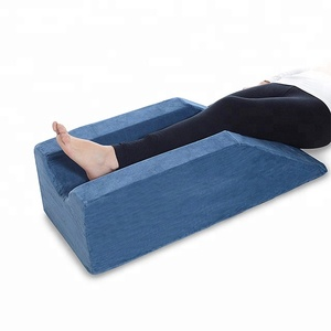 High End Velvet Knee Pillow For Sleeping Memory Foam Elevating Leg Rest Pillow