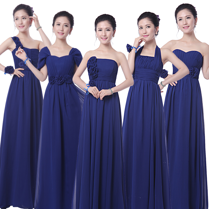 7427d80eb03d Buy Navy Blue Bridesmaid Dresses Chiffon Floor Length Strapless Cheap Bridesmaid  Dresses Under 50 Royal Blue Bridesmaid Dress Mixed in Cheap Price on ...