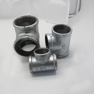 Galvanized iron malleable iron clamp pipe fittings reducing tee