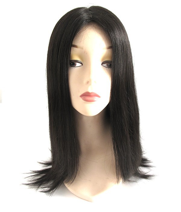 Beautiful natural straight top quality virgin mongolian hair wig