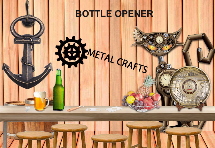 Custom metal bottle opener keychains no minimum wall moun