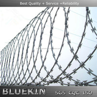 high tensile razor barbed wire for security fence