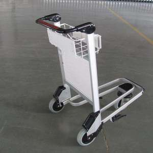 Airport luggage baggage dolly trolley with hand brake