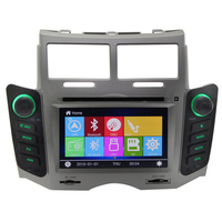 Car DVD gps for Toyota Yaris with gps navigation system with bluetooth audio